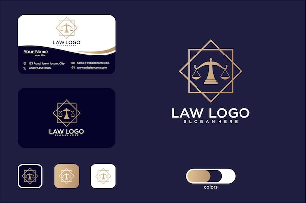 Conception de logo de loi élégante et carte de visite