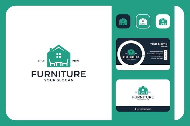 Conception de logo de maison de meubles et carte de visite