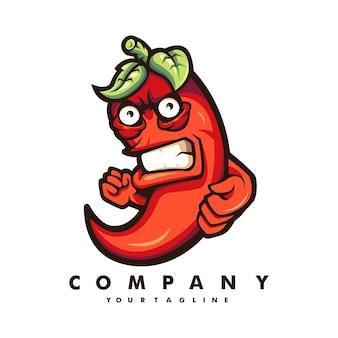 Conception de logo de mascotte de piment