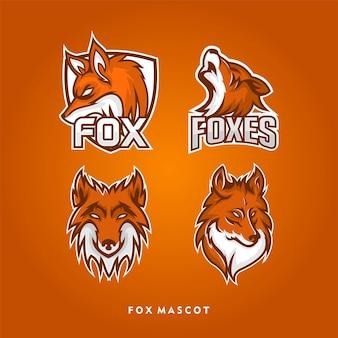 Conception de logo de mascotte de tête de renard