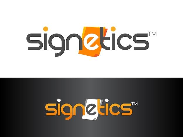 Conception de logo de médias imprimés réceptifs magnétiques