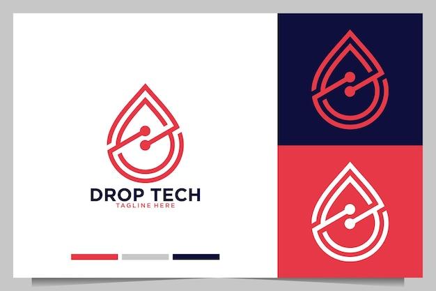 Conception de logo moderne de technologie de baisse
