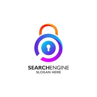 Conception de logo de moteur de recherche et de confidentialité