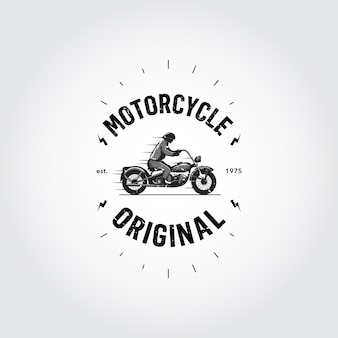 Conception de logo de moto