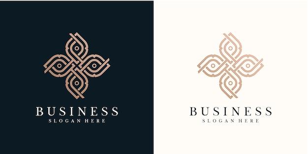 Conception de logo de nature abstraite fleur rose logo de spa naturel pour les soins de la peau à la mode minimaliste