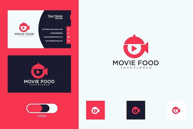 Conception de logo de nourriture de film et carte de visite