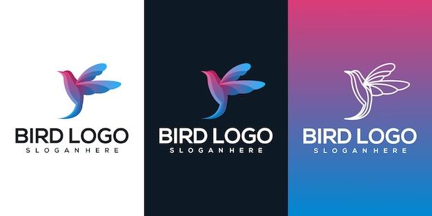Conception de logo oiseau
