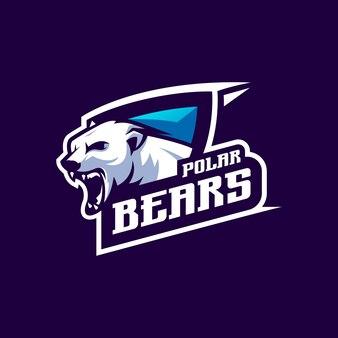 Conception de logo d'ours avec vecteur pour l'édition