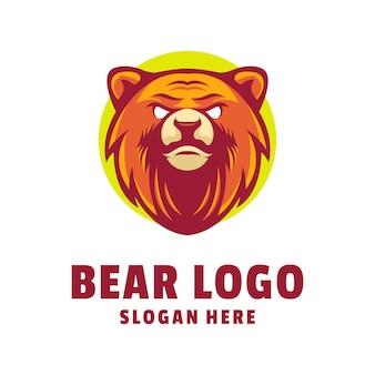 Conception De Logo D'ours Vecteur Premium