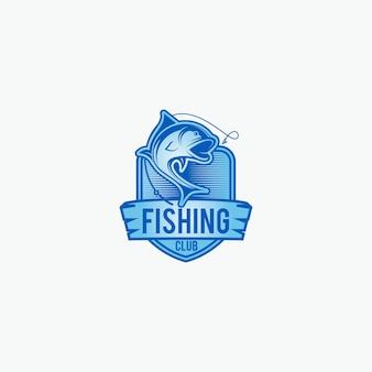 Conception de logo de pêche