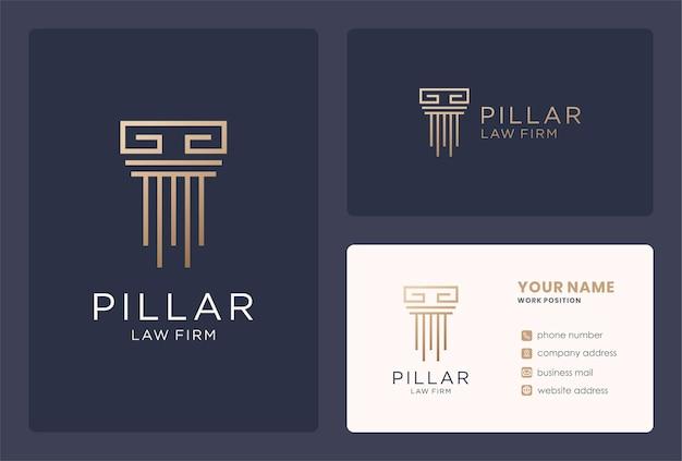 Conception de logo de pilier de monogramme pour les affaires de cabinet d'avocats.