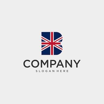 Conception de logo de police britannique simple et moderne et logo facile à reconnaître