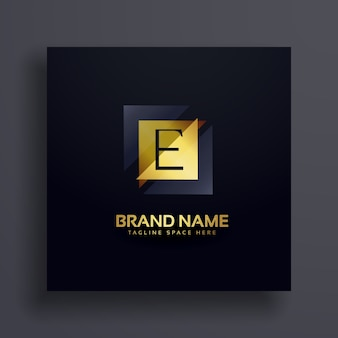 Conception de logo premium lettre e concept