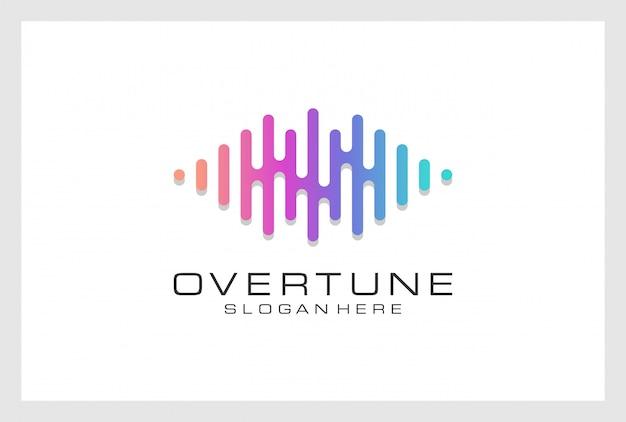 Conception de logo pusle vecteur premium. le logo peut être utilisé pour la musique, le multimédia, l'audio, l'aqualizer, l'enregistrement, la discothèque, le dj, la discothèque, le magasin.