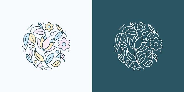 Conception de logo silhouette cerf coucher de soleil exotique