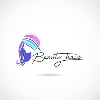 Conception de logo de soin de cheveux de beauté