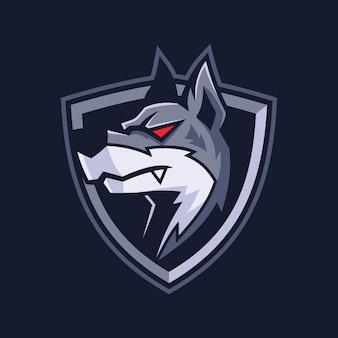 Conception de logo de sport chien mascotte