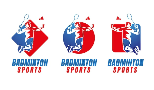 Conception de logo de sport de logo de badminton