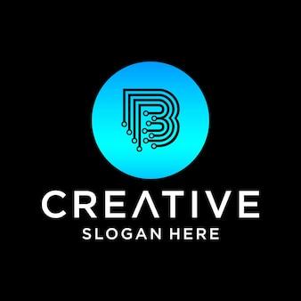 Conception de logo de technologie b