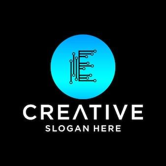 Conception de logo de technologie électronique