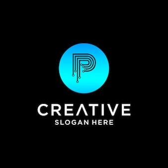 Conception de logo de technologie p