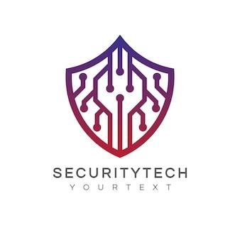 Conception de logo de technologie de sécurité