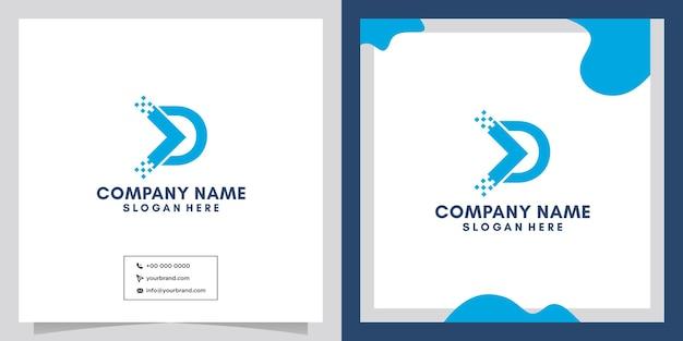 Conception de logo de technologie de technologie numérique