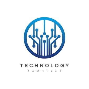 Conception de logo de technologie