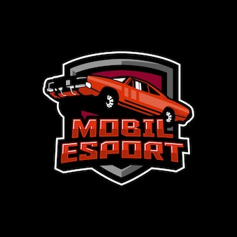 Conception de logo de voiture esport
