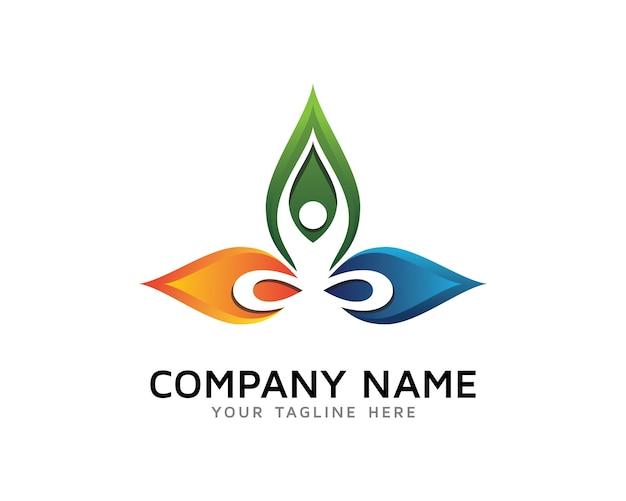 Conception de logo de yoga