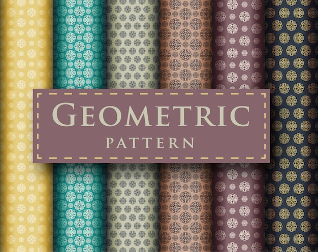 Conception de luxe géométrique abstraite de la collection de modèles sans couture