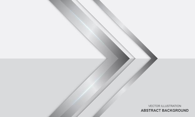 Conception de luxe moderne blanc et argent abstrait