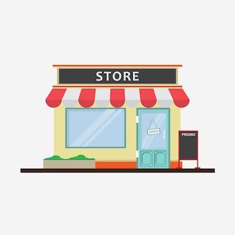 Conception de magasin à plat