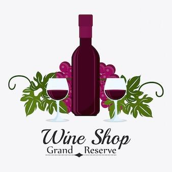 Conception de magasin de vin.
