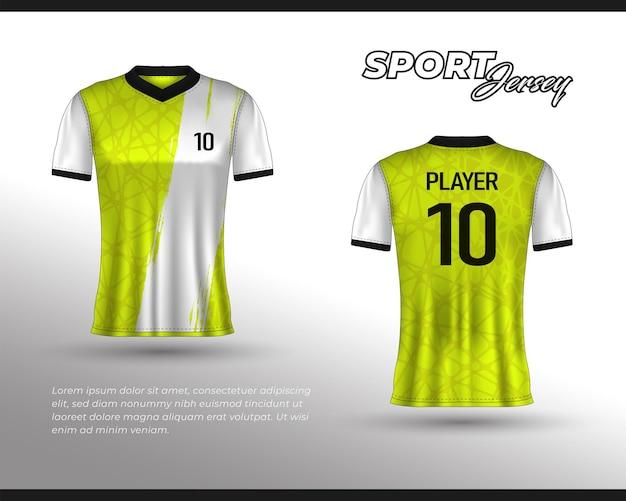Conception de maillot de course de sport, conception de t-shirt avant arrière. conception sportive pour maillot de jeu de cyclisme de course de football