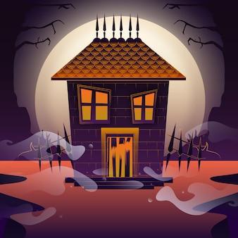 Conception de la maison du festival halloween