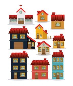 Conception de la maison, illustration vectorielle.