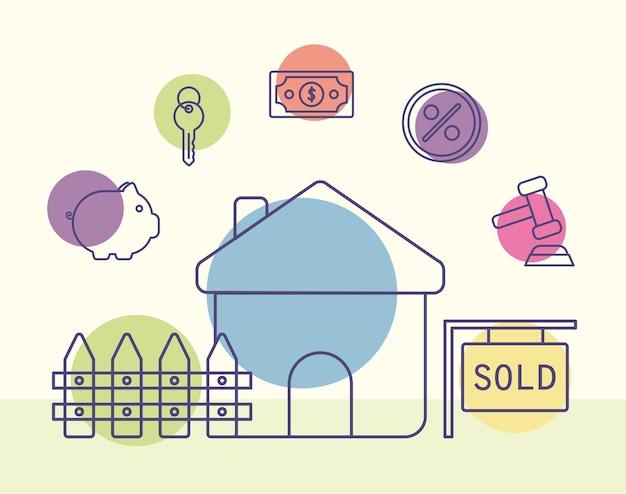 Conception de maison vendue avec des articles