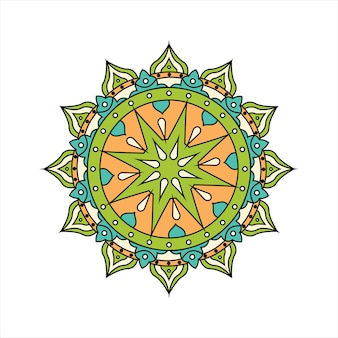 Conception de mandala coloré rétro