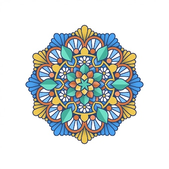 Conception de mandala coloré