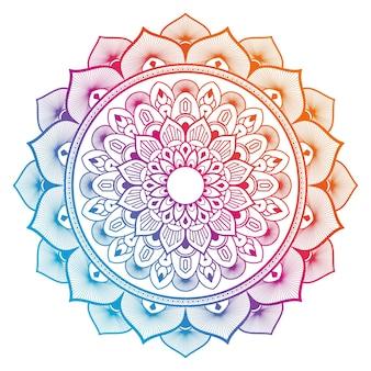 Conception de mandala coloré