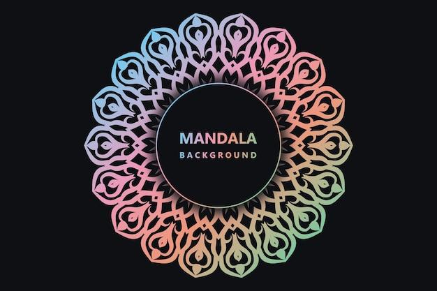 Conception de mandala en couleur vecteur premium
