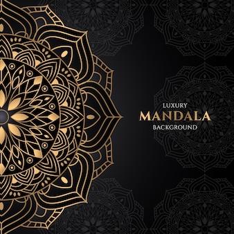 Conception de mandala doré dégradé