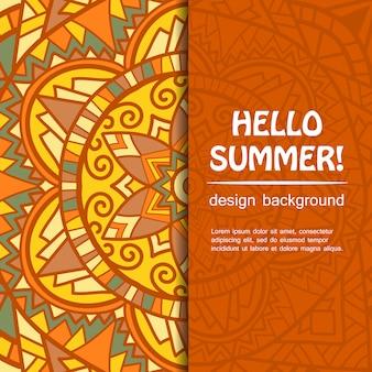 Conception de mandala d'été. l'origine ethnique.