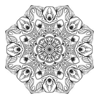 Conception de mandala floral