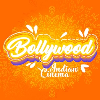 Conception de mandala de lettrage bollywood