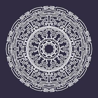 Conception de mandala de ligne abstraite