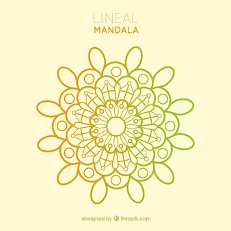 Conception de mandala lineal