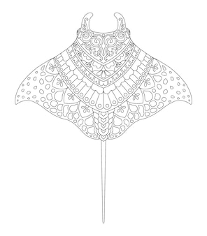 Conception de mandala manta pour l'impression de pages à colorier