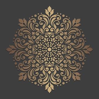 Conception de mandala ornée. motif de cercle ornemental.